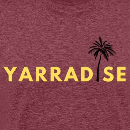 Yarradise Palm: Yellow text