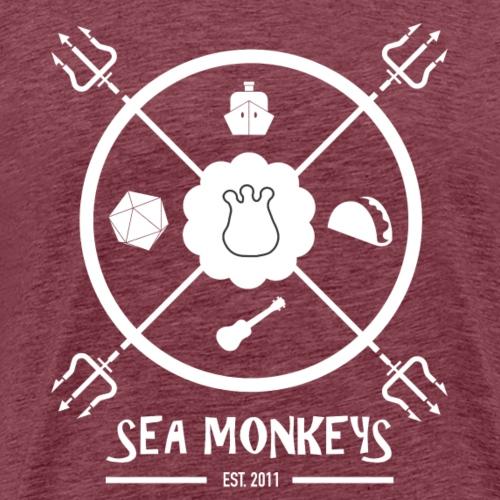 Sea Monkey trident in white - Men's Premium T-Shirt