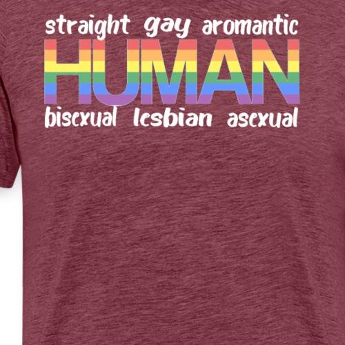 Gay Pride Flag Transexual Bisexual Lesbian HUMAN - Men's Premium T-Shirt
