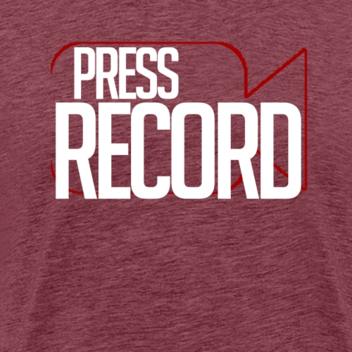 Press Record png - Men's Premium T-Shirt