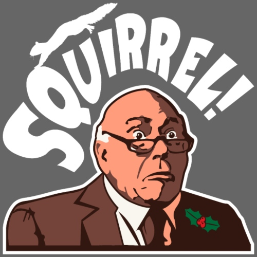 Squirrel! Funny Christmas Shirt Holiday Vacation - Men's Premium T-Shirt