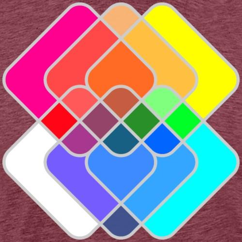 Abstract Color Geometric Squares - Men's Premium T-Shirt