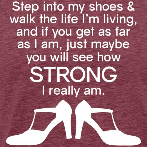 Step into My Shoes (high heels) - Men's Premium T-Shirt
