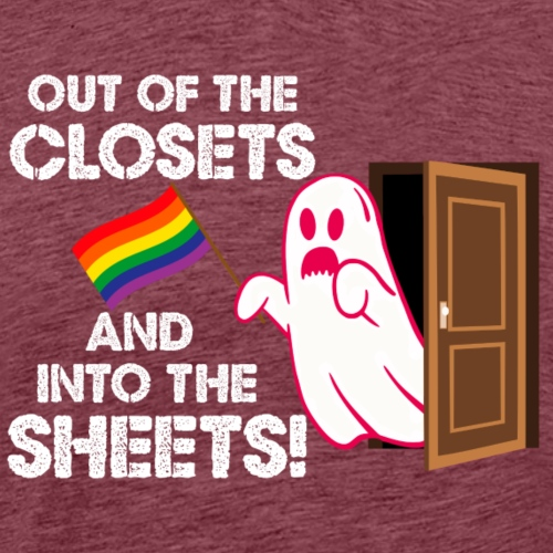 Out of the Closets Pride Ghost - Men's Premium T-Shirt