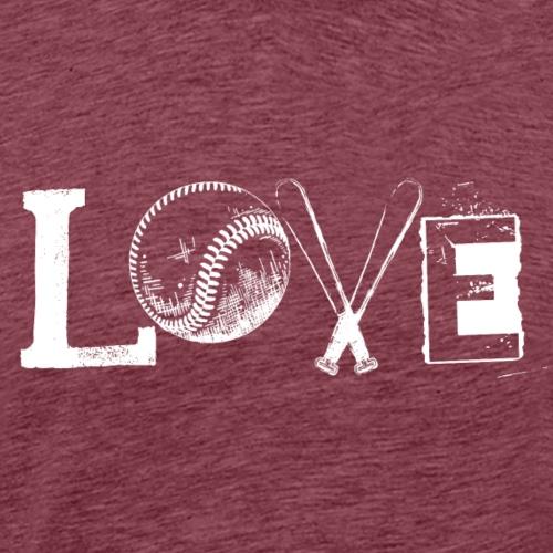 Baseball Love - White - Men's Premium T-Shirt