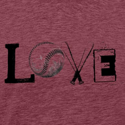 Love - Baseball style - Men's Premium T-Shirt