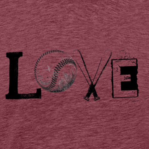 Love - Baseball style - Men's Premium T-Shirt