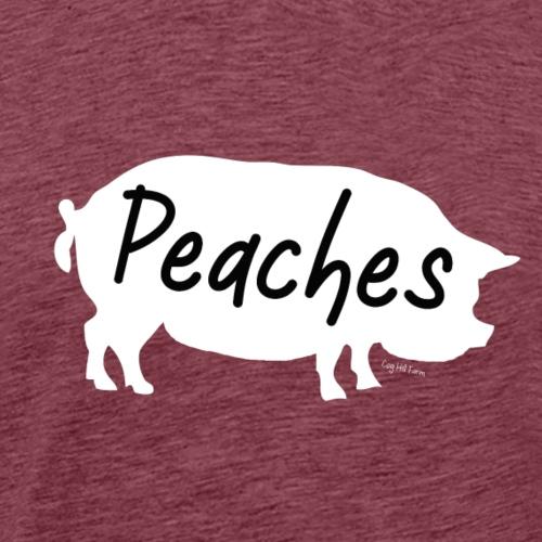 Peaches The Pig - Men's Premium T-Shirt