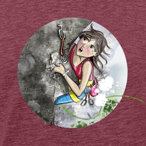 Fear Of Falling-Rock Climbing - Men's Premium T-Shirt