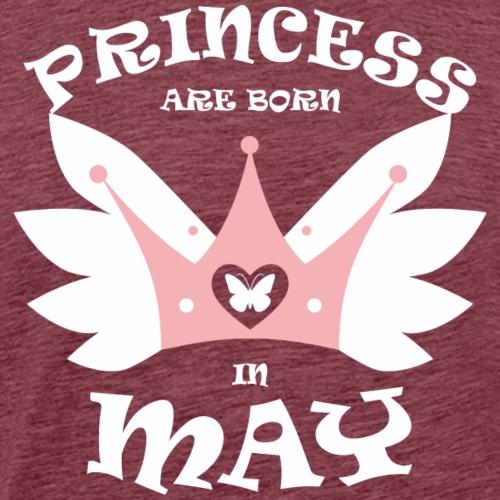 Princess Are Born In May - Men's Premium T-Shirt