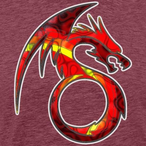 Fire Dragon Colorful Tribal Tattoo - Men's Premium T-Shirt