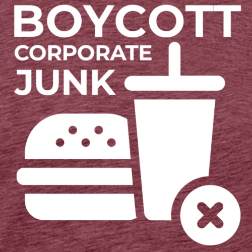 Boycott corporate junk - Men's Premium T-Shirt