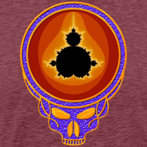 Fractal Psychedelic Chromium Grateful Dead Skull - Men's Premium T-Shirt