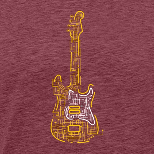 Electric Guitar | Music Rocks - Men's Premium T-Shirt