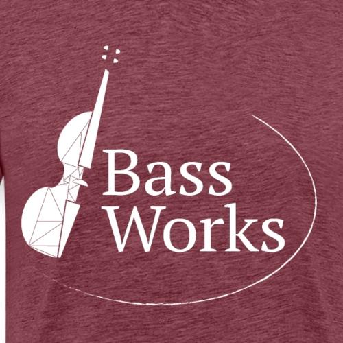 Bass Works White Logo - Men's Premium T-Shirt