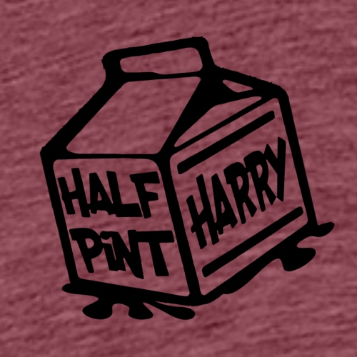 Half Pint Harry Roadie Front & Back - Black - Men's Premium T-Shirt