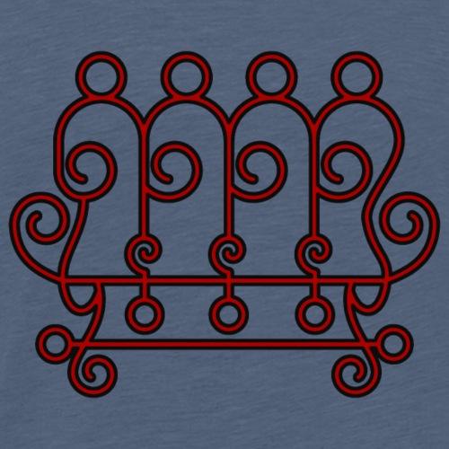 Seal of Paimon from the Goetia - Men's Premium T-Shirt