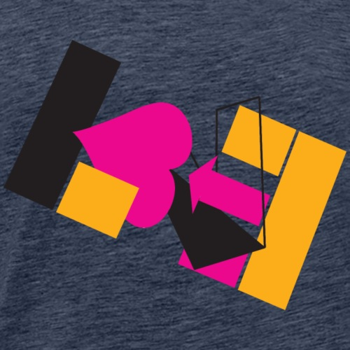 Abstract Love - Men's Premium T-Shirt