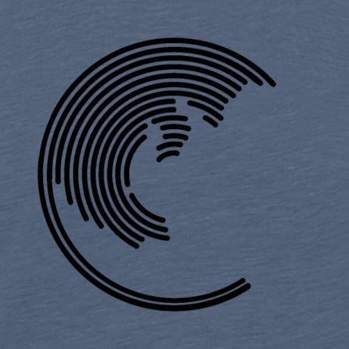 Cat circle design - Men's Premium T-Shirt