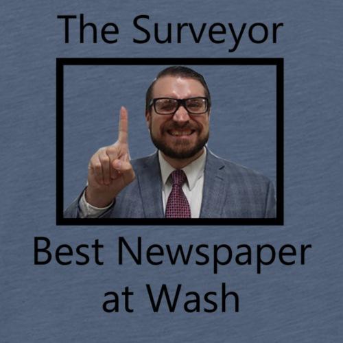 Best Newspaper at Wash - Men's Premium T-Shirt