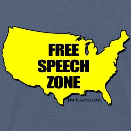 Free Speech Zone USA - Men's Premium T-Shirt