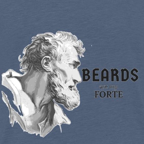 Beards Are My Forte - Men's Premium T-Shirt