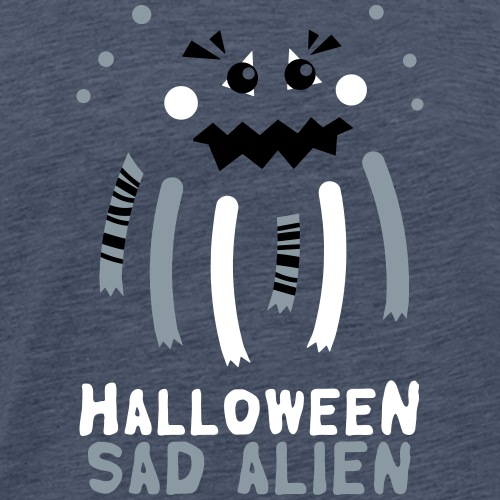 Halloween Sad Alien - Men's Premium T-Shirt