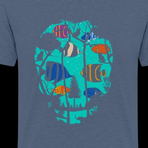 Underwater Skull - Men's Premium T-Shirt