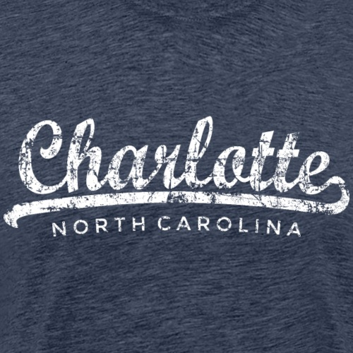 Charlotte, North Carolina Classic (Vintage White) - Men's Premium T-Shirt