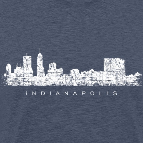 Indianapolis Skyline (Vintage White) - Men's Premium T-Shirt