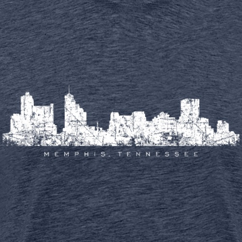 Memphis, Tennessee Skyline (Vintage White) - Men's Premium T-Shirt