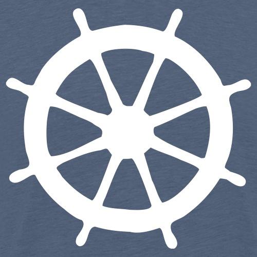 Steering Wheel Sailor Sailing Boating Yachting - Men's Premium T-Shirt