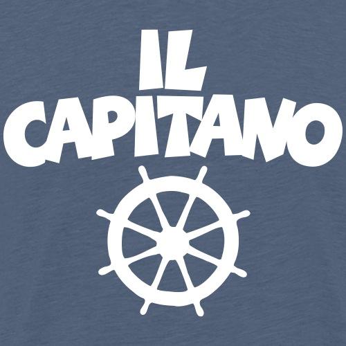 Il Capitano Wheel Captain Boat & Sail - Men's Premium T-Shirt