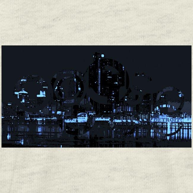 detroit skyline abstract