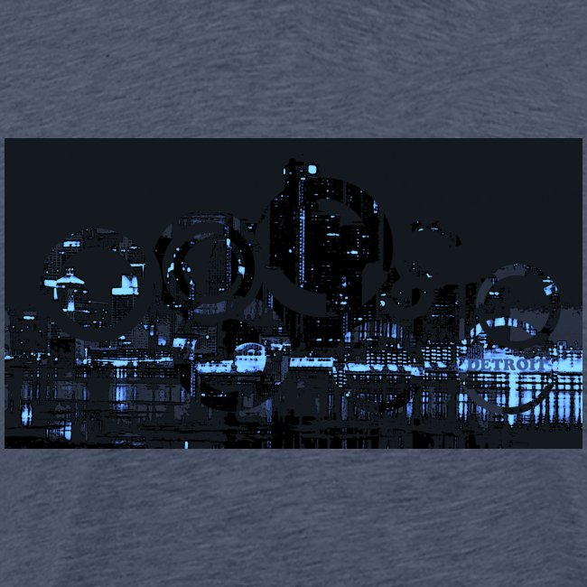 detroit skyline abstract