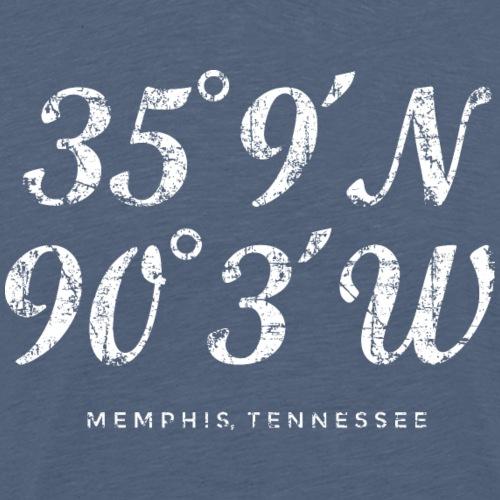 Memphis Coordinates (Vintage White) - Men's Premium T-Shirt