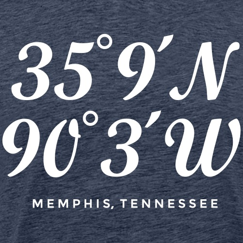 Memphis, Tennessee Coordinates - Men's Premium T-Shirt