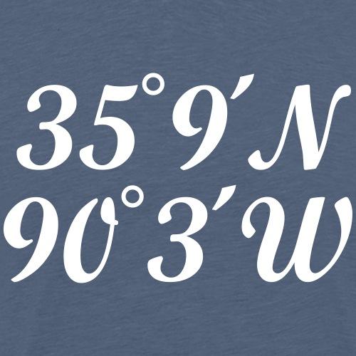 Memphis Coordinates - Men's Premium T-Shirt