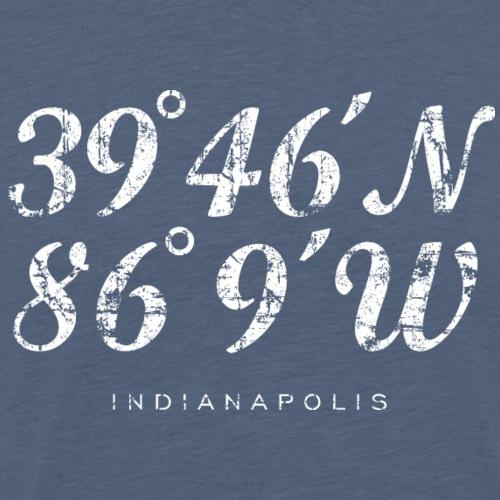 Indianapolis Coordinates (Vintage White) - Men's Premium T-Shirt