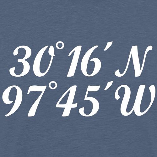Austin Coordinates - Men's Premium T-Shirt