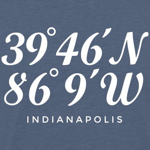 Indianapolis Coordinates Latitude Longitude - Men's Premium T-Shirt