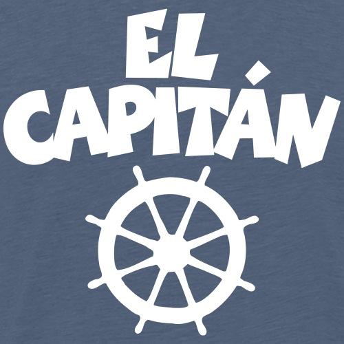 El Capitán Wheel Captain Skipper Sailor - Men's Premium T-Shirt