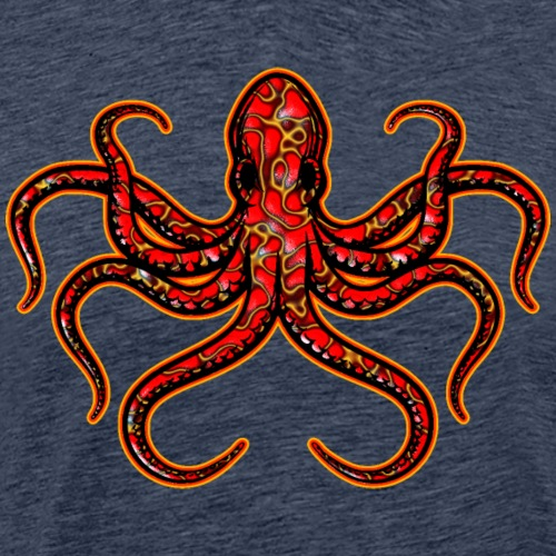 Angry Red Ringed Octopus - Men's Premium T-Shirt