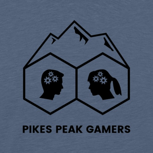 Pikes Peak Gamers Logo (Transparent Black) - Men's Premium T-Shirt