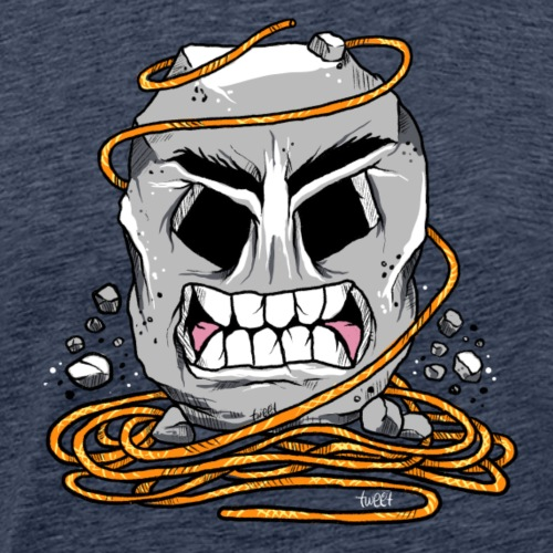 Rock Climber with tangled rope - Men's Premium T-Shirt