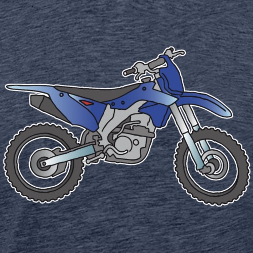 Motocross motorcycle (blue ) - Men's Premium T-Shirt