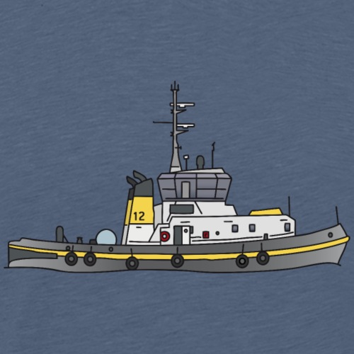 Tug or towing boat - Men's Premium T-Shirt