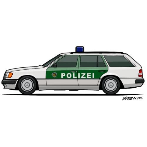 MB W124 T124 300TE German Police Autobahn - Men's Premium T-Shirt
