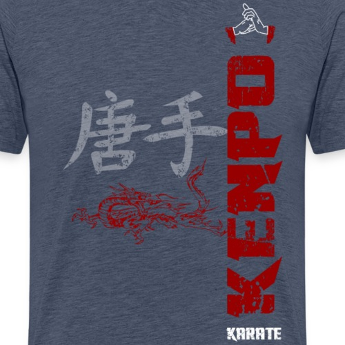 vertical kenpo with chinese kanji dragon red - Men's Premium T-Shirt