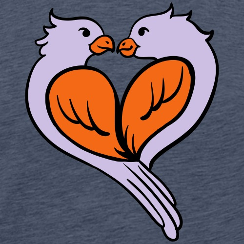 Love birds... - Men's Premium T-Shirt